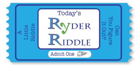 Today's Ryder Riddle